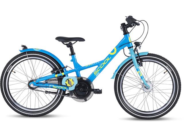 s'cool XXlite alloy 20 3-S Kinderen, blue/petrol